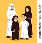 manga arab family cartoon... | Shutterstock .eps vector #403702429