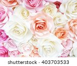 colorful rose made from paper | Shutterstock . vector #403703533