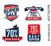 super sale and hot deals badge   Shutterstock .eps vector #403706398