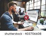 unsecured virus detected hack... | Shutterstock . vector #403706608
