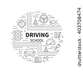 driving school logo template... | Shutterstock .eps vector #403708474