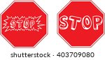 funny stop signs | Shutterstock .eps vector #403709080