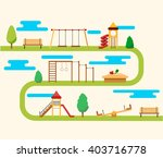 kids playground. | Shutterstock .eps vector #403716778