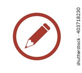 pencil  icon   isolated. flat ... | Shutterstock .eps vector #403718230