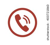 phone  icon   isolated. flat ... | Shutterstock .eps vector #403721860