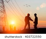 silhouette engineer looking... | Shutterstock . vector #403722550