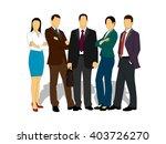 drawings businessmen on a white ... | Shutterstock .eps vector #403726270