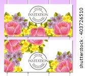 romantic invitation. wedding ... | Shutterstock .eps vector #403726510
