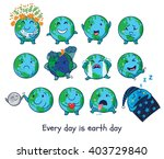 cute cartoon earth globe with... | Shutterstock .eps vector #403729840