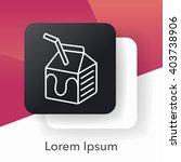 milk line icon | Shutterstock .eps vector #403738906