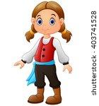 Cute Little Pirate Girl...