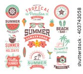 vintage summer design and... | Shutterstock .eps vector #403743058