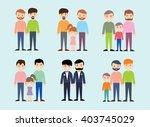 homosexual  happy family  gay...   Shutterstock .eps vector #403745029