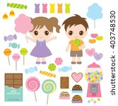 vector illustration of kids and ... | Shutterstock .eps vector #403748530