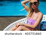 fashion photo of young sexy... | Shutterstock . vector #403751860