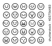 vector icons of smiley faces... | Shutterstock .eps vector #403756483