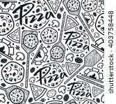 pizzeria seamless pattern.... | Shutterstock .eps vector #403758448