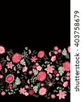 floral seamless border  vintage ...   Shutterstock .eps vector #403758679