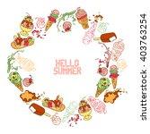 hello summer. lettering. ice... | Shutterstock .eps vector #403763254