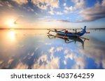 morning sun in bali  indonesia. ... | Shutterstock . vector #403764259