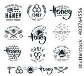 set of honey labels  badges ... | Shutterstock .eps vector #403764556