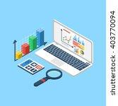 data analytics  chart graphic...   Shutterstock .eps vector #403770094