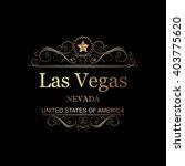 las vegas nevada vintage frame. | Shutterstock .eps vector #403775620