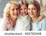 portrait of three generations...   Shutterstock . vector #403782448