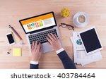 business desk concept  ...   Shutterstock . vector #403784464