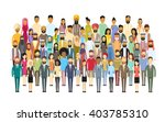 group of business people big... | Shutterstock .eps vector #403785310