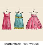 vector fashionable beautiful... | Shutterstock .eps vector #403791058