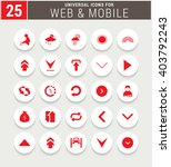 25 red universal icon set.... | Shutterstock .eps vector #403792243
