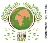 planets and green leaves. april ... | Shutterstock .eps vector #403795483