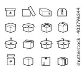 set of box linear icons with... | Shutterstock .eps vector #403796344