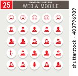 25 red universal icon set.... | Shutterstock .eps vector #403796989