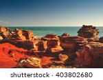 gantheaume point in broome ... | Shutterstock . vector #403802680