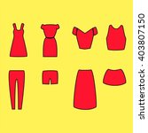 Clothes Set In Red