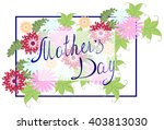 happy mothers typographical... | Shutterstock .eps vector #403813030