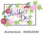 happy mothers typographical...   Shutterstock .eps vector #403813030