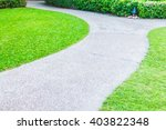 stone path way for walking... | Shutterstock . vector #403822348