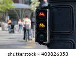 bicycle riders waiting for... | Shutterstock . vector #403826353