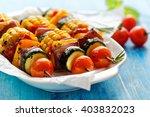 vegetarian skewers | Shutterstock . vector #403832023
