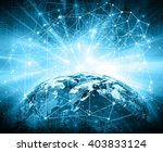 best internet concept of global ... | Shutterstock . vector #403833124