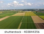 Aerial View Of Farm Lands In...