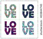 set of 4 bright positive... | Shutterstock .eps vector #403844740