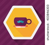 mustache coffee cup flat icon...   Shutterstock .eps vector #403846303