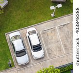 top view of parking area with... | Shutterstock . vector #403848388