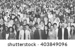 large group of diverse... | Shutterstock . vector #403849096