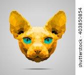 sphynx cat low poly portrait....   Shutterstock .eps vector #403850854