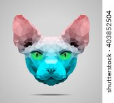 sphynx cat low poly portrait....   Shutterstock .eps vector #403852504